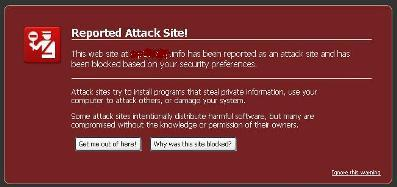Reported Attack Site... wuuihhh serem..