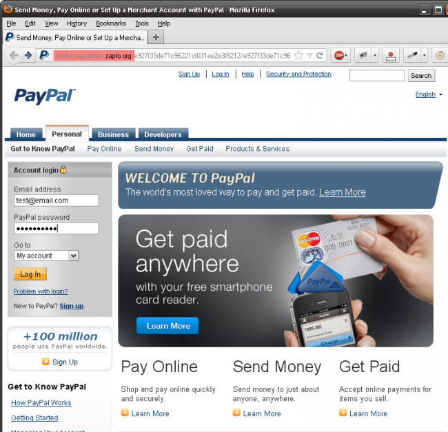 Security Alert - Paypal Scam
