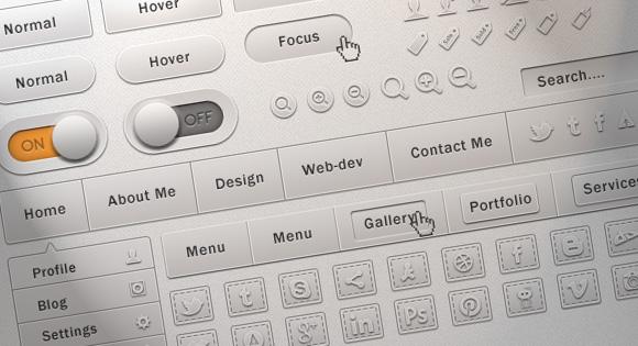 Soft UI Free PSD Design